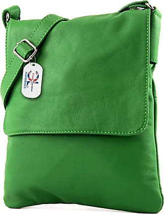 Craze London Genuine Italian Leather Verapelle Cross body Messenger Bag/Womens Ladies Verappele hand Bags (Green)