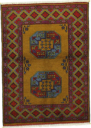 Nain Trading 140x103 Oriental Afghan Akhche Rug Brown/Purple (Wool, Afghanistan, Hand-Knotted)