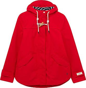 Joules New Coast Womens Waterproof Jacket - Red: 16