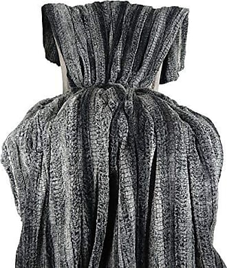 Plutus Brands Cuddle Charcoal Fringe Throw Pillow 80 x 110 Gray