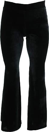 Loud Elephant Velvet Flares Trousers - Black (Small/Medium)