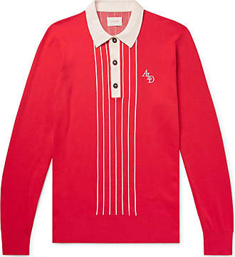ffedf9b900f Aimé Leon Dore Slim-fit Logo-embroidered Knitted Cotton Rugby Shirt - Red