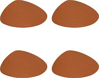 Hey-Sign Stone Tischset 4er Set 44x38cm - walnussbraun/Filz in 5mm Stärke/LxBxH 44x38x0.5cm