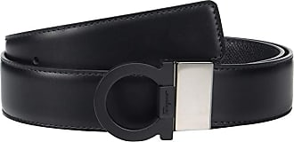 Salvatore Ferragamo Adjustable/Reversible Belt - 67A004 (Black) Mens Belts