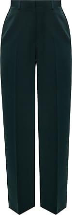 Lanvin Pleat-front Trousers Womens Green
