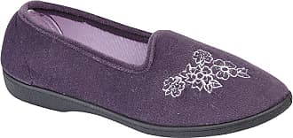 Zedzzz Womens/Ladies Heather Floral Slippers (5 UK) (Purple)