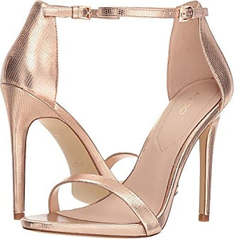 30a7f65ec2c Aldo Womens CARAA Heeled Sandal Metallic Miscellaneous 9 B US