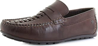 Base London Mens Brown Leather Palmer Loafers 9