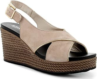 Igi & Co 5180933 Womens Wedge Sandal Leather Beige Size: 8.5 UK