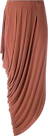 Uma Gonna midi drappeggiata Maldivas - Color marrone