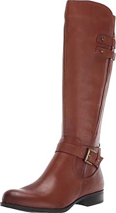 Naturalizer Womens Jackie Knee High Boot, Cinnamon Lthr, 9.5 X-Wide