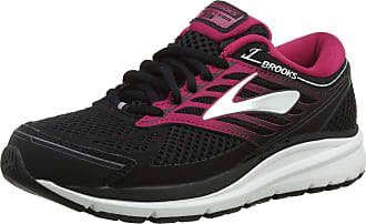 Brooks Womens Addiction 13 Running Shoes, Multicolour (Black/Pink/Grey 070), 8.5 UK