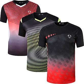 Jeansian Mens 3 Packs Sport Slim Quick Dry Short Sleeves Compression T-Shirt Tee LSL232_248_250 Black XL