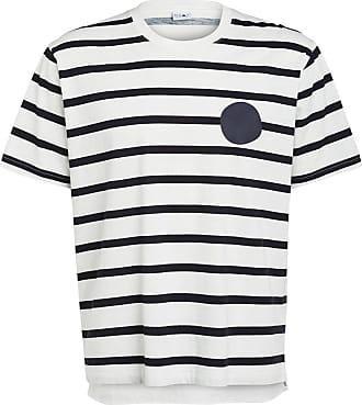 Nn.07 T-Shirt DYLAN - WEISS/ SCHWARZ GESTREIFT