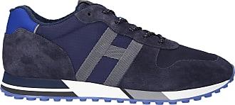 Hogan Sneaker low H383 Veloursleder Logo blau