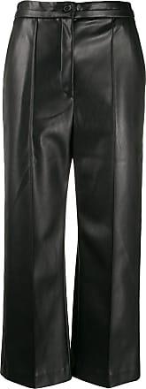 Hussein Chalayan Pantaloni crop a gamba ampia - Di colore nero