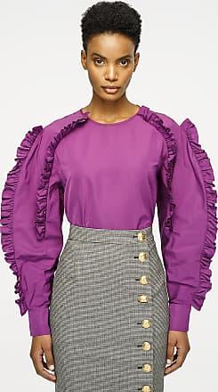 f3f81bb5b0bfd Escada Silk Blend Ruffle-Sleeve Blouse