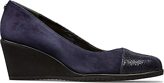 Van Dal Womens Leal Wide E Fit Wedge, Midnight Crackle Print/Suede, Size 5 UK