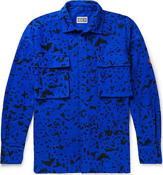 Cav Empt Noise Printed Cotton-flannel Shirt - Blue