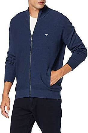 Fynch Hatton Cardigan-Zip Structure Mix Chaqueta Punto para Hombre