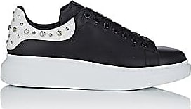 Alexander McQueen Mens Oversized-Sole Studded Leather Sneakers - Black, Wht Size 6 M