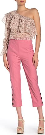 C/Meo Collective Definintive Seam Front Button Hem Pants