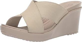 e8907ee813b2 Crocs Womens Leigh II Cross-Strap Wedge Sandal