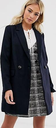 Pimkie tailored coat in navy-Black