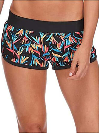 Body Glove Womens Pulse Elastic Waist Hybrid Pull On Swim Short with UPF 50+, Hang Loose Black, X-Small