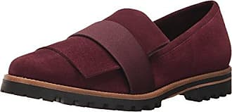 Bernardo Womens ORA Loafer Flat Bordeaux Suede/Satin 7.5M M US