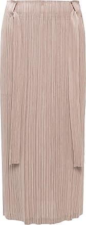 Issey Miyake Pleated Skirt Womens Beige