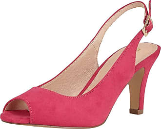 Lotus Zaria Womens Sling Back Peep Toe Court Shoes 6 UK Fuchsia