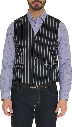 Robert Graham Mens R Collection Abraham Vest In Navy Size: 2XL by Robert Graham