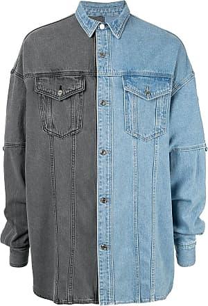 Juun.J Saia jeans bicolor - Azul