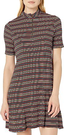 Volcom Womens Strype Hype Flare Short Sleeve Dress - Multi - Small
