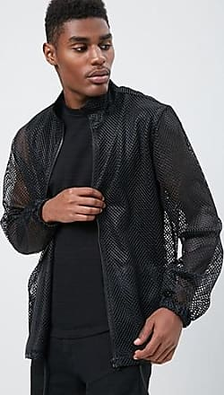 21 Men Sheer Mesh Jacket at Forever 21 Black