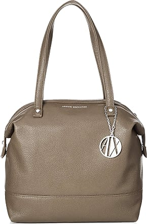 A X Armani Exchange Tote Bag Leather Womens Tote, Brown (Taupe), 31x16x52 centimeters (B x H x T)