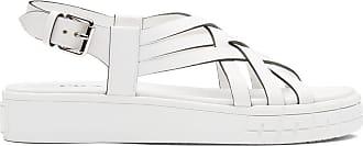Prada Sandália flatform com tiras e salto 30mm - Branco
