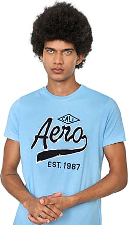 Aéropostale Camiseta Aeropostale Bordada Azul