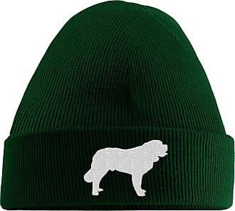 HippoWarehouse Saint Bernard Logo Embroidered Beanie Hat Bottle Green