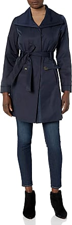Jones New York Womens Hooded Trench Coat Rain Jacket
