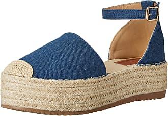 Yoki Womens SUE Flat Sandal, Denim, 5.5 UK