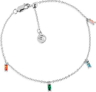 Sif Jakobs Jewellery Ankle Chain Princess with multicolored zirconia