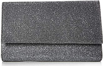 Jessica McClintock Nora Sparkle & Shine Flap Clutch, Pewter