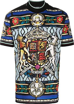 Dolce & Gabbana Camiseta com estampa de vitral - Preto