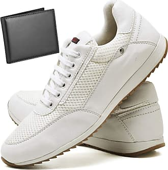 Juilli Sapatênis Sapato Casual Com Carteira Masculino JUILLI R1100DB Tamanho:42;cor:Branco;gênero:Masculino