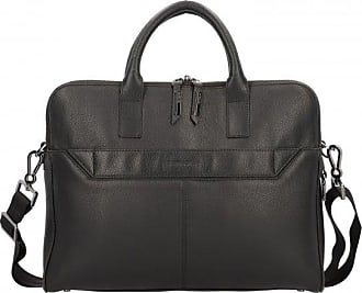 Samsonite Senzil Slim Cartella pelle 38 cm scomparto Laptop Black