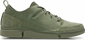 Clarks Mens Shoe Olive Nubuck Clarks Tri Verve Lace Size 11.5