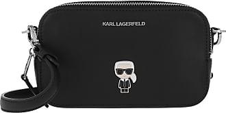 Karl Lagerfeld Ikonik Metal Pin Camera Bag Black Umhängetasche schwarz