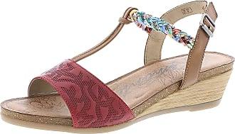 Remonte R4459 Women,Wedge Sandals,Summer Shoes,Comfortable,Flat,rosso/nuss/nuss-antik/33,38 EU / 5 UK